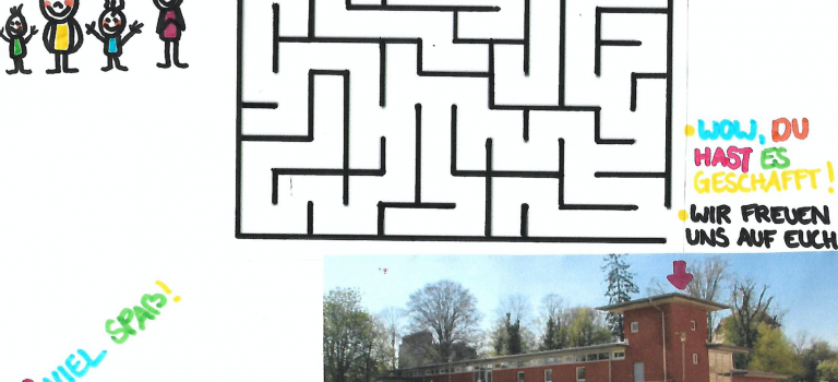 Labyrinth: Weg zum Kindergarten