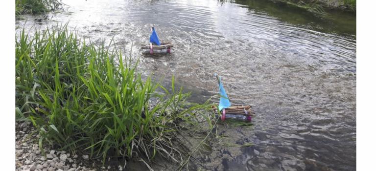 Mein selbst gebautes Floß und Segelboot ⛵️